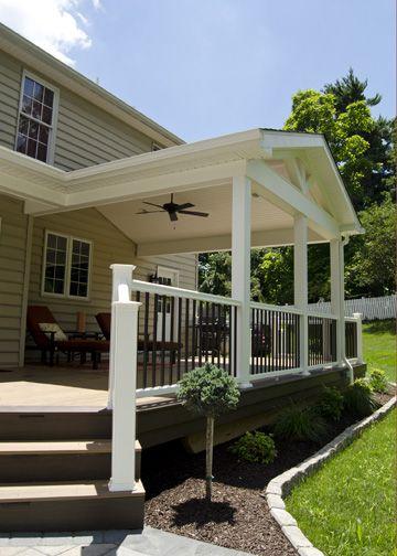 Decks Home Custom Decks Carpentry: Custom TimberTech Deck/Porch, West Chester PA