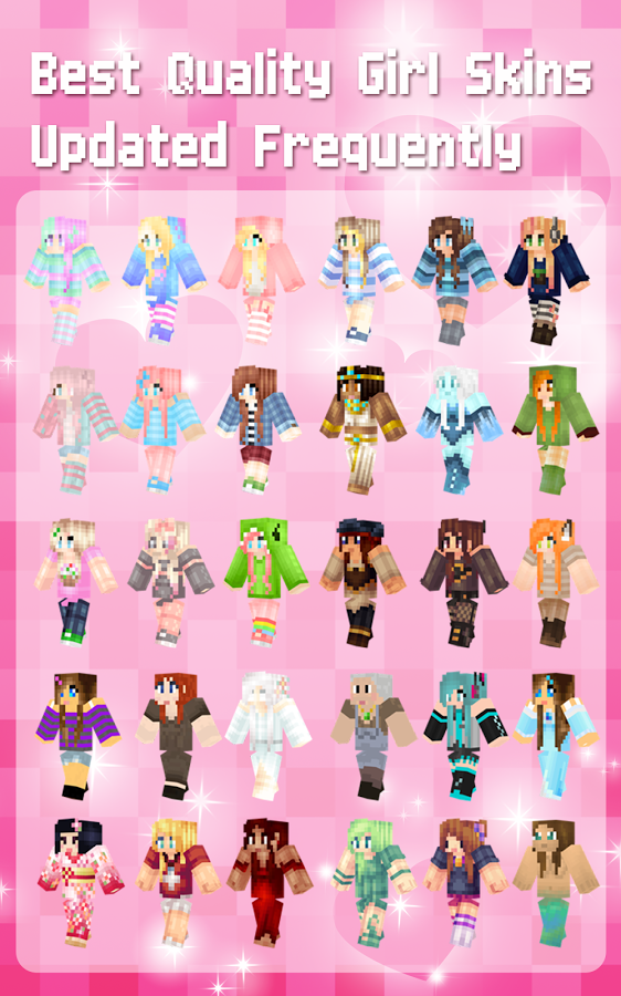 Girl Skins For Minecraft PE APK Download Android Tools Apps - Skins para minecraft pe apk