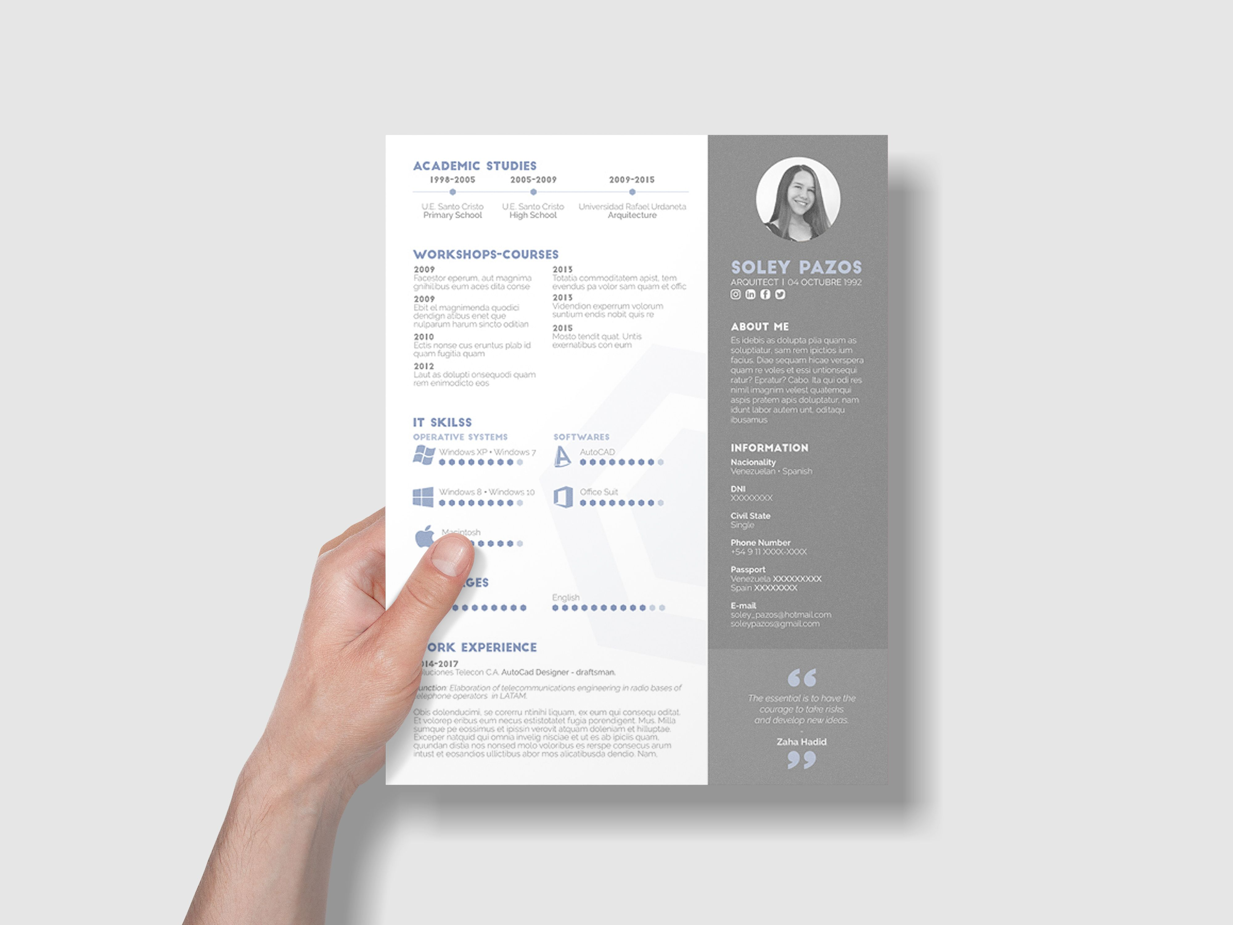 Free Architecture Resume Template - Architecture resume, Resume design template, Resume design free, Resume design, Resume template, Resume - Here is free architecture resume template with clean and modern design  Free curriculum vitae template, perfect to introduce yourself into the business world, easy to modify, simple grid, professio