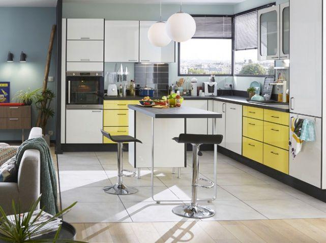 cuisine ouverte d couvrez toutes nos inspirations elle d coration cuisine pinterest. Black Bedroom Furniture Sets. Home Design Ideas