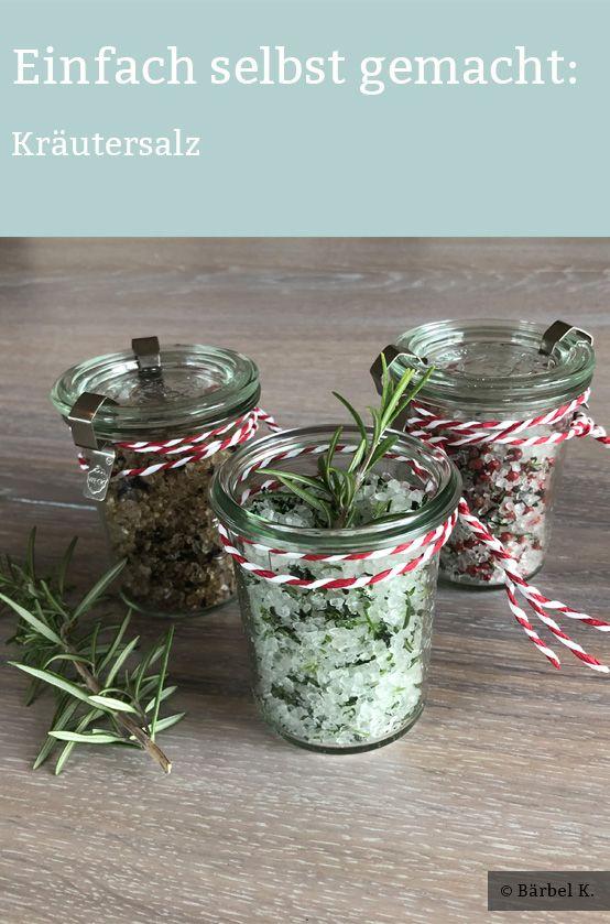 Kräutersalz selber machen – Eine einfache und schnelle Geschenkidee. Hier kommt die Anleitung.