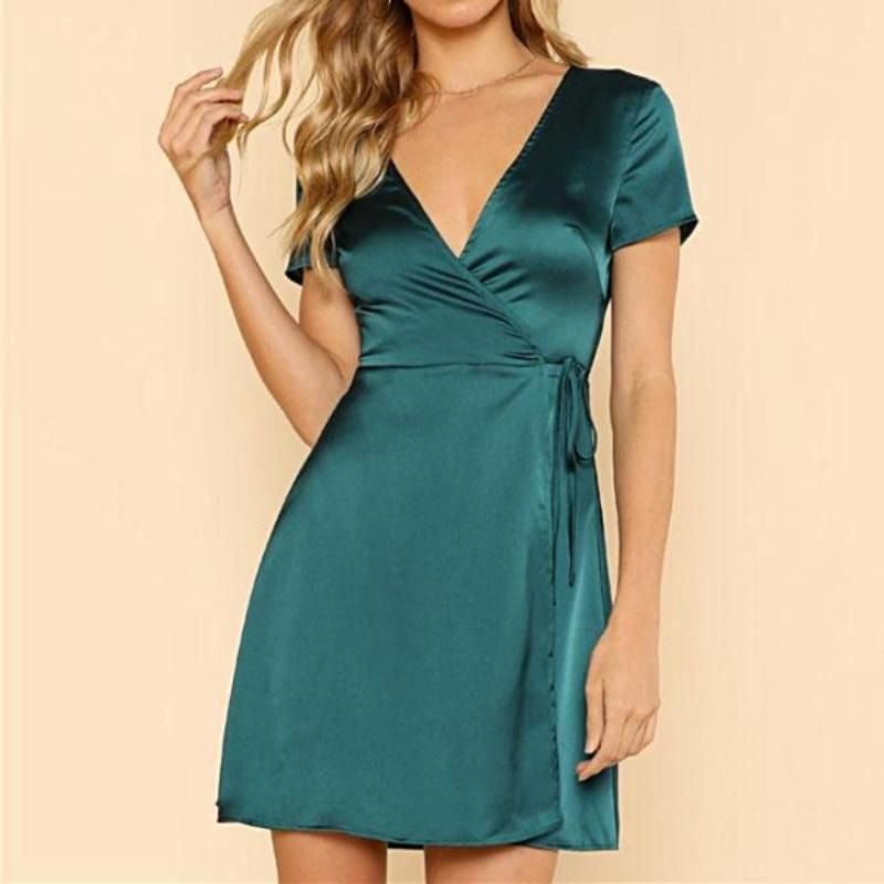 2ffb381042428f You can buy a simply perfect mini dress at Isabelaz. Made from a satin in
