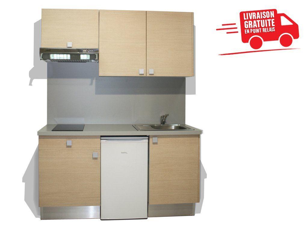 Une Kitchenette Complete En 160cm Qualite Madeinfrance Kitchenette Kitchenette Petite Cuisine Equipee Cuisine Equipee