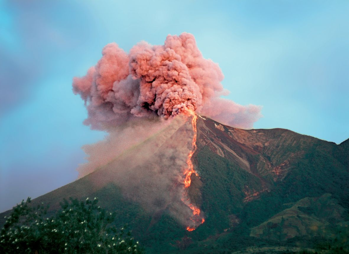 A Pink Volcano by Camille Vivier