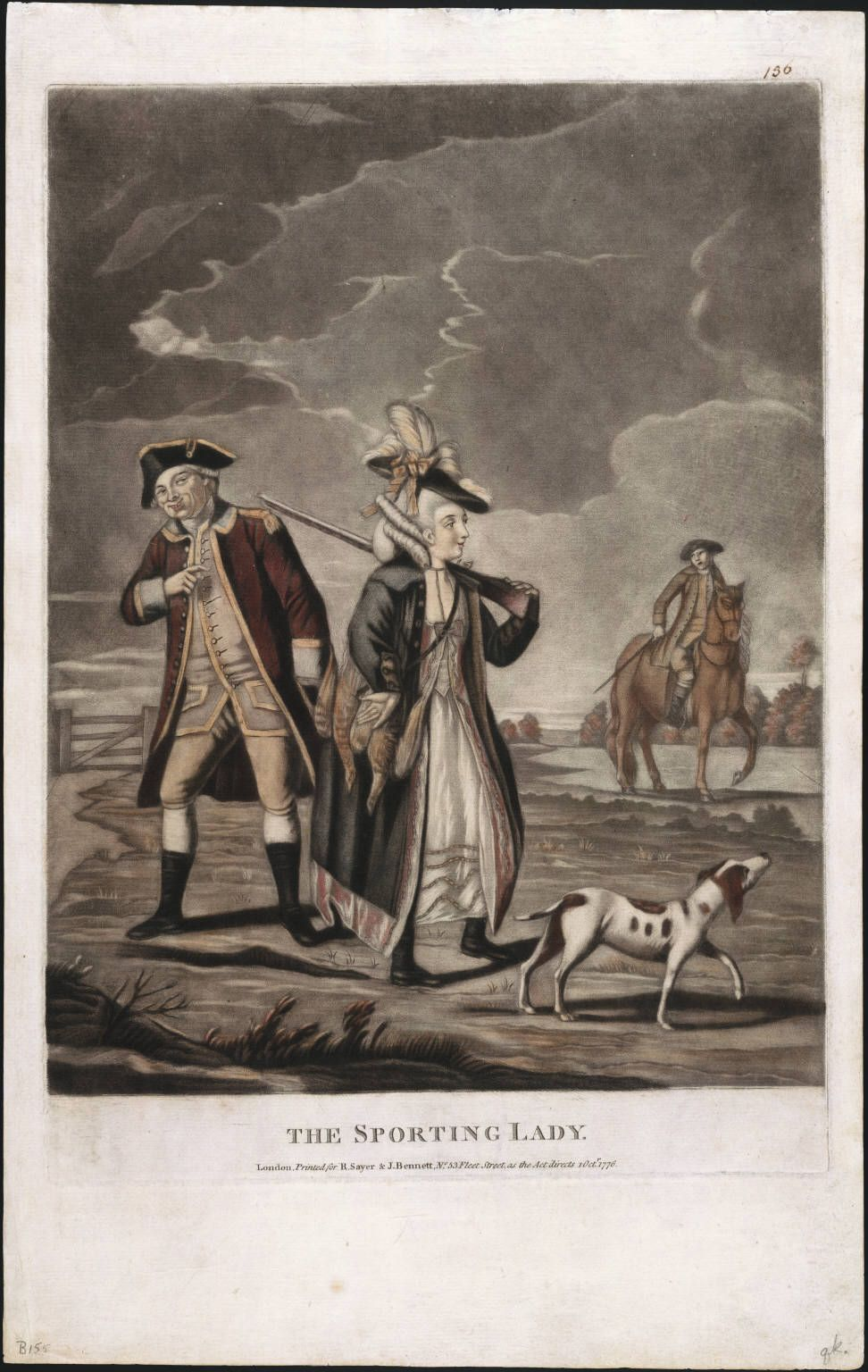 1776  'The Sporting Lady' Lewis Walpole Library Digital Collection images.library.yale.edu