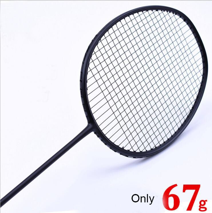 1 Pc Zarsia 7u 67g G6 Ultra Light Black Badminton Racket Badminton Racket Quality Carbon Racket 28lbs Affiliate Badminton Badminton Racket Rackets