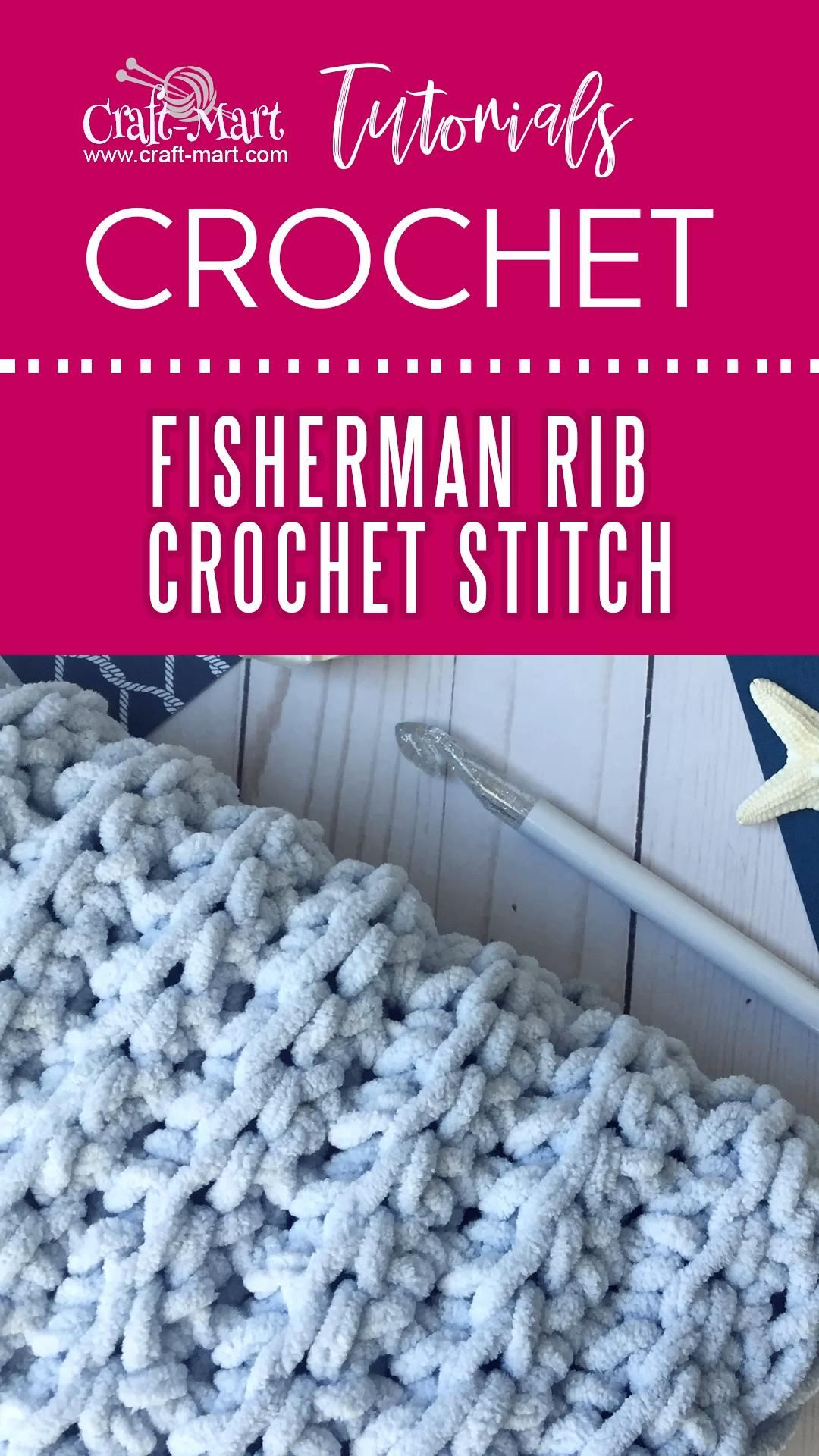 Fisherman Rib Crochet Stitch