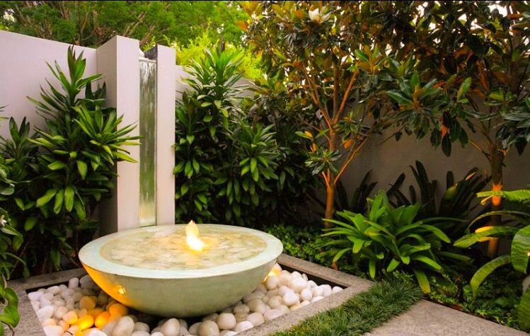 Flaming Water Feature Dream House Pinterest Azotea, Jardinería