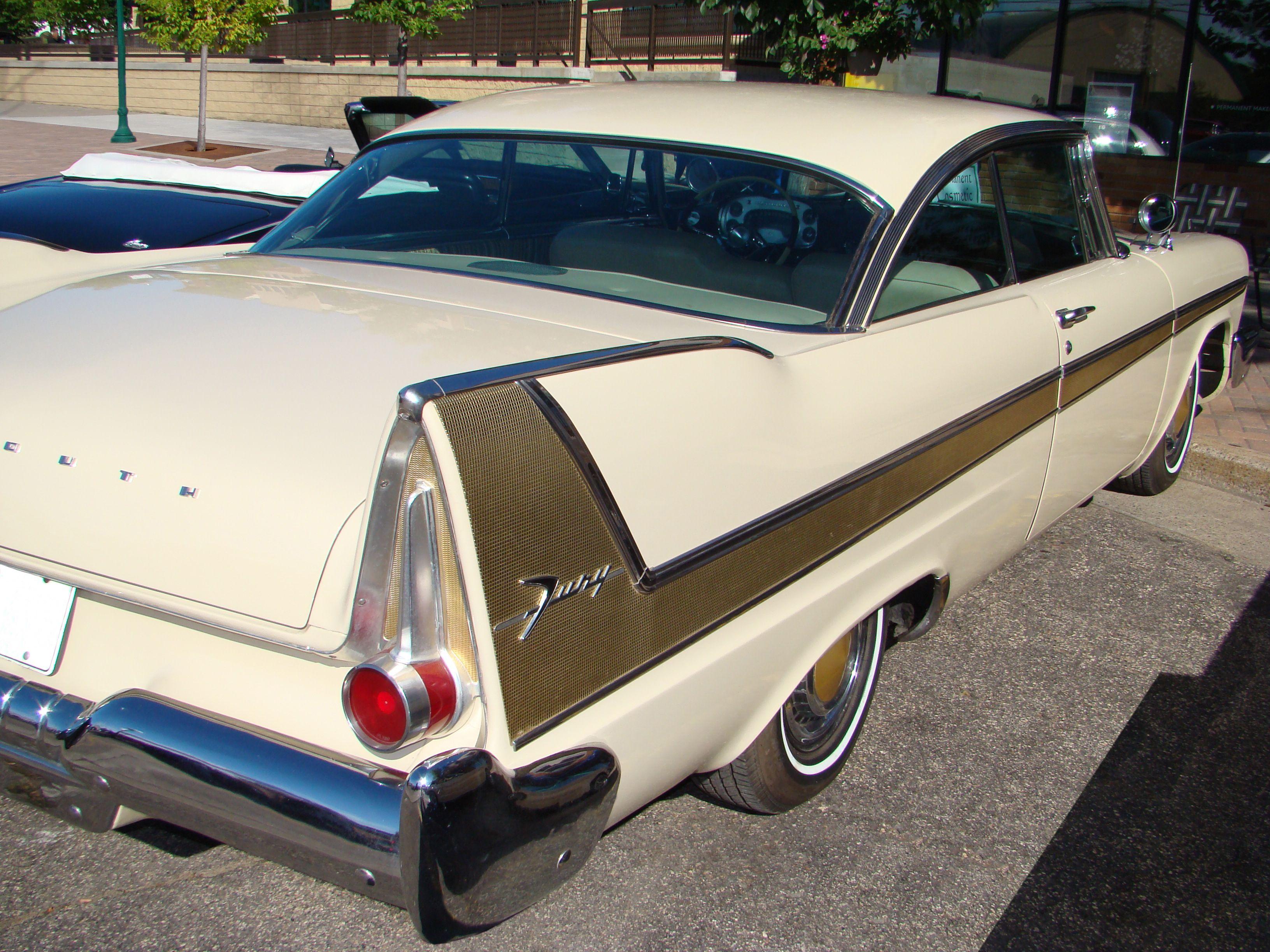 58 Plymouth tail fin white   Vintage Autos   Pinterest   Plymouth