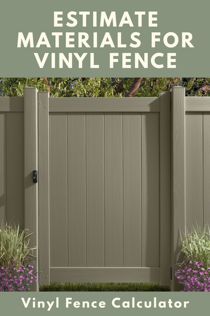 Vinyl Fence Calculator Estimate Materials And Pricing Inch Calculator Vinyl Fence Cost Vinyl Fence Fence