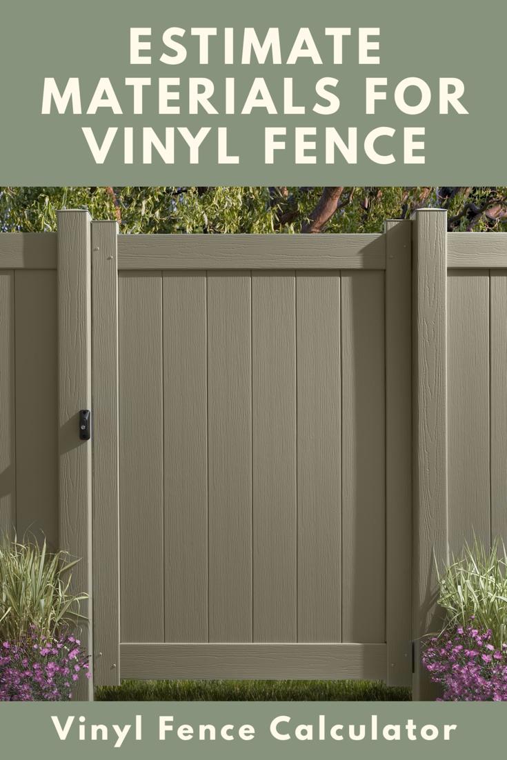 Vinyl Fence Calculator Estimate Materials And Pricing Vinyl