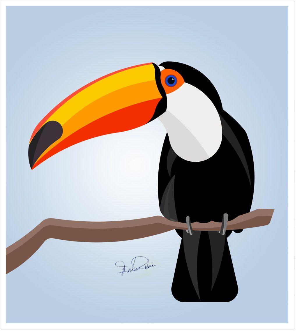 Ilustracao Tucano Portfolio Fabio Ribeiro Diretor De Arte