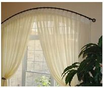 Arched Curtain Rod From Hilandesign Com Arched Window Treatments