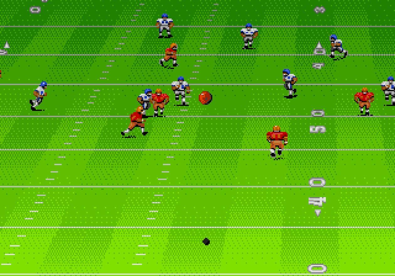 John Madden Football (1990) Soccer field, Football