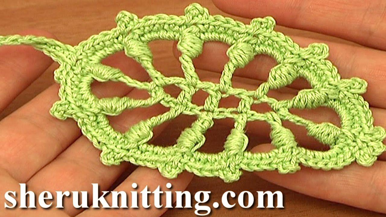 Crochet Puff Stitch Leaf Tutorial 32 Free Crochet Leaf Patterns ...
