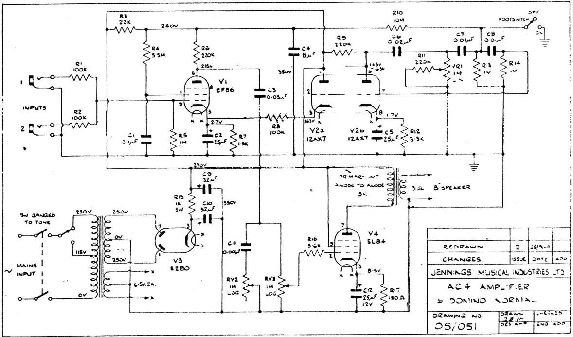 peavey windsor schematic