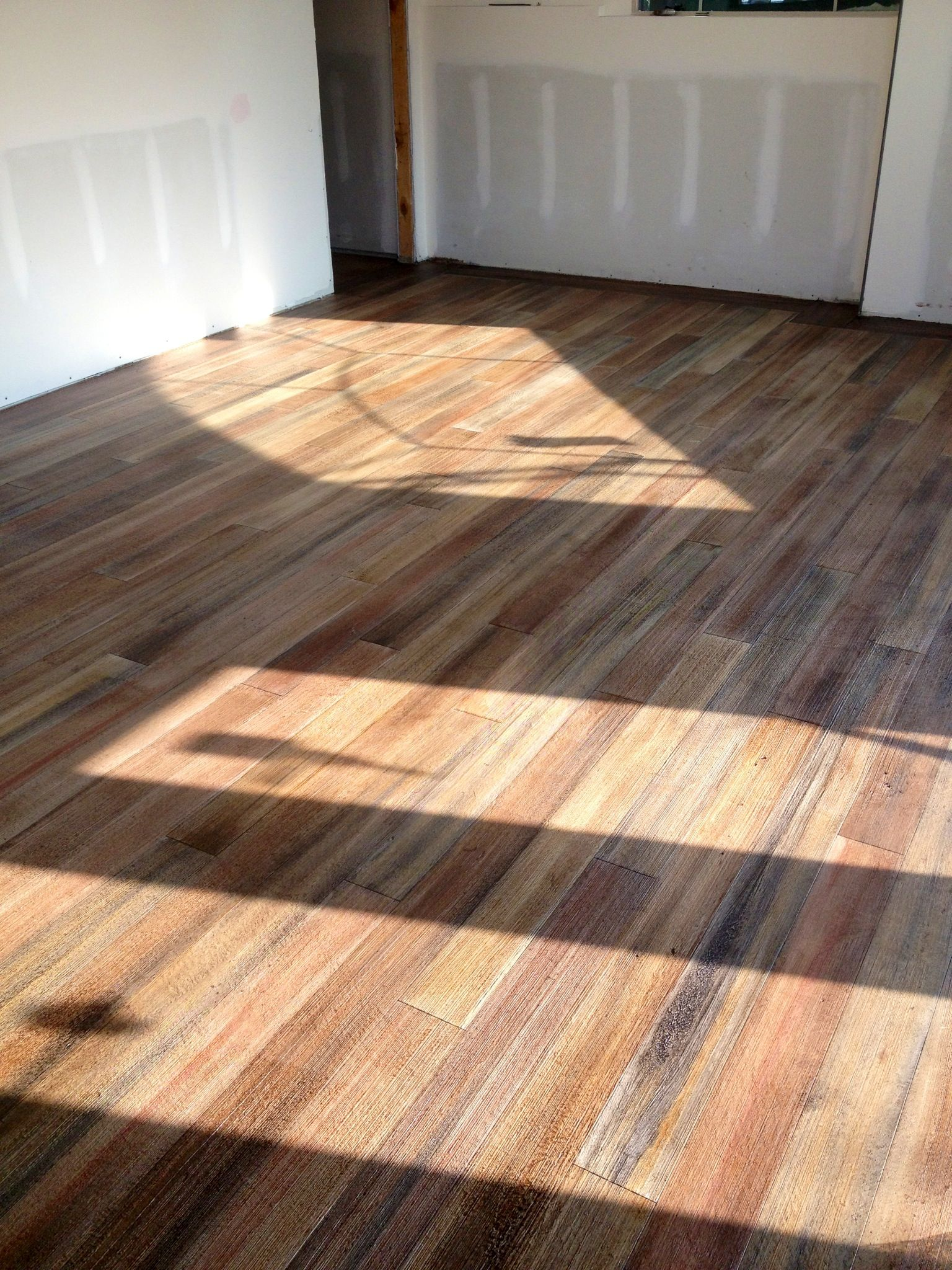 Concrete floor made to look like wood. | Concrete wood ...