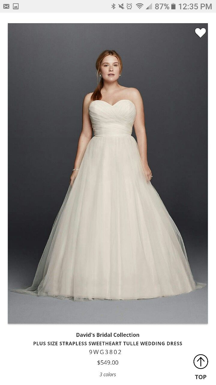 Plus size tulle wedding dress  Pin by Ashley Lambert on March    Pinterest  March