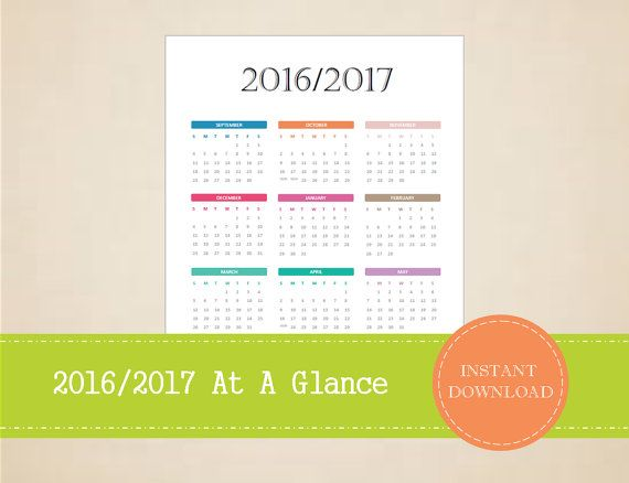 2017\/2018 Academic Year at a Glance Calendar - Academic Calendar - sample annual calendar
