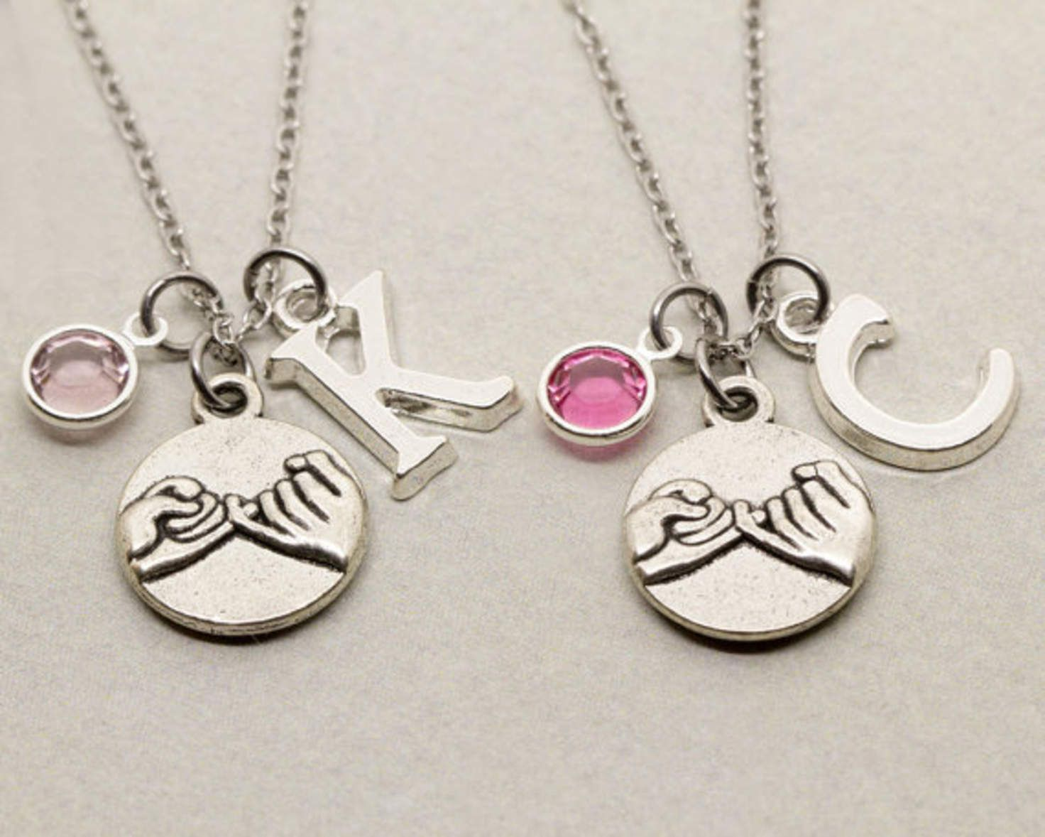 Best Friend Gift 2 Best Friends Pinky Promise Necklaces