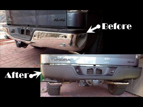 Tundra Rear Bumper Removal Plasti Dip And Rust Repair