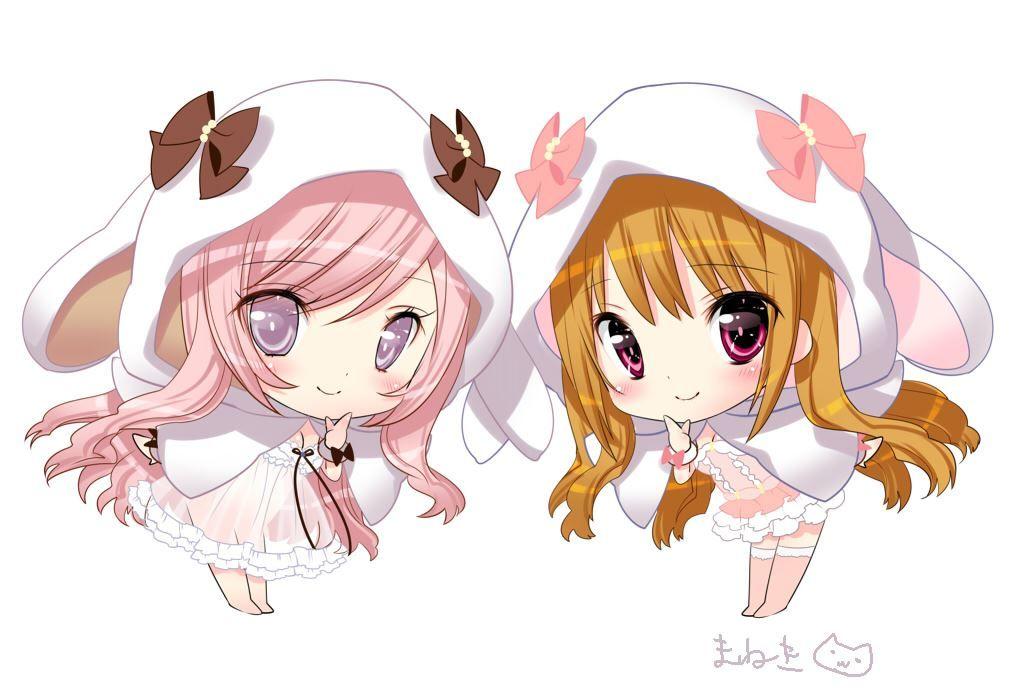 Anime Twins Anime Anime Chibi Chibi