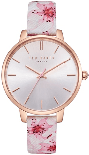 dbe731f0745 Women s Ted Baker London Kate Leather Strap Watch