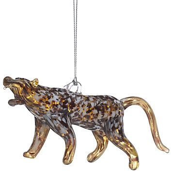 LENOX Ornaments: Animals - Leopard Art Glass Ornament