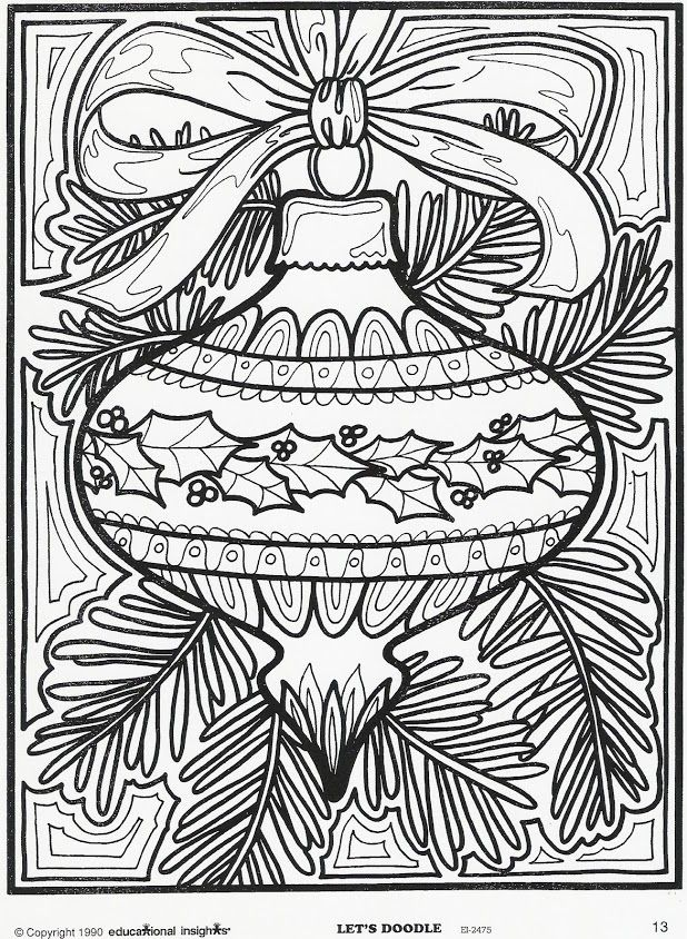 Christmas Coloring Pages For Adults 21 Printable
