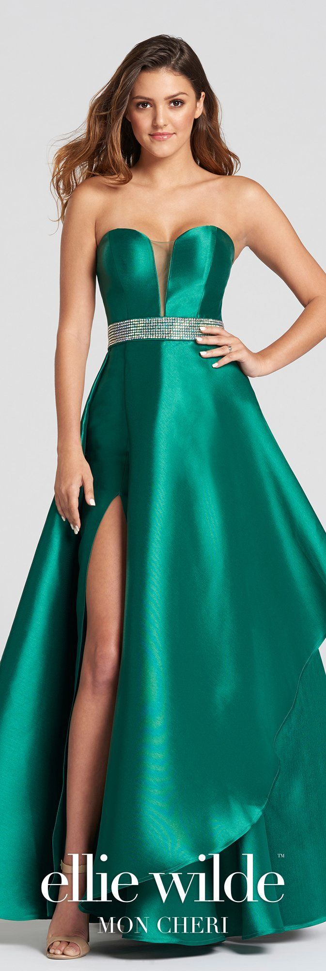 Emerald ballgown in products pinterest dresses prom