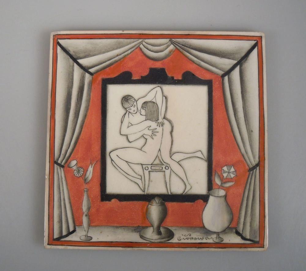 Vintage gio ponti richard ginori ceramic art deco tile art deco vintage gio ponti richard ginori ceramic art deco tile dailygadgetfo Image collections