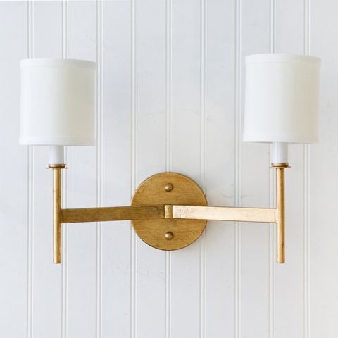 Randolph Gold Leaf 2-Arm Sconce