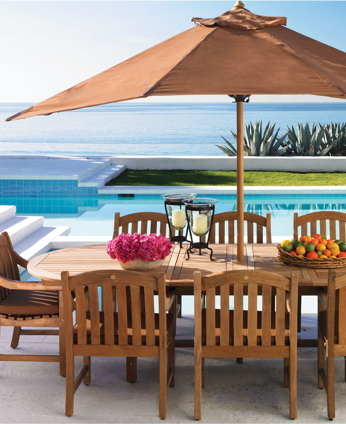 Bristol Teak Outdoor Dining Collection, Created for Macy\'s | Teak ...
