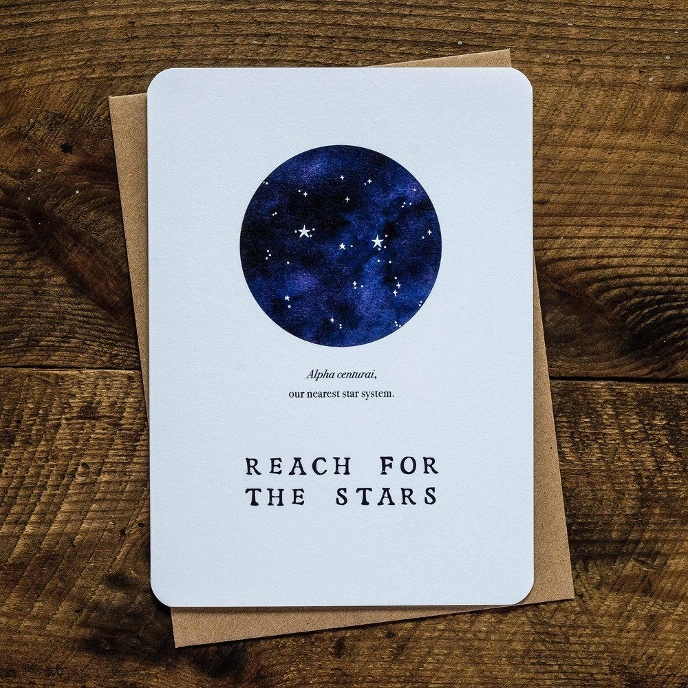 Reach for the stars greetings card aim high star and lights reach for the stars greetings card kristyandbryce Images