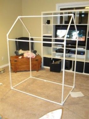 DIY Playhouse with PVC piping for frame! & DIY Playhouse with PVC piping for frame! | baby room | Pinterest ...