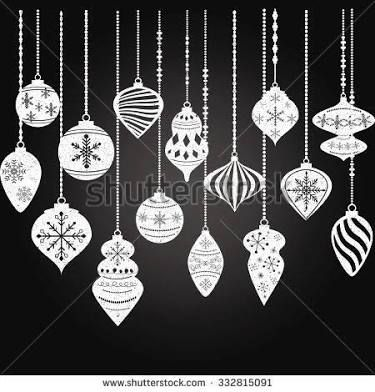 Image result for applique christmas baubles