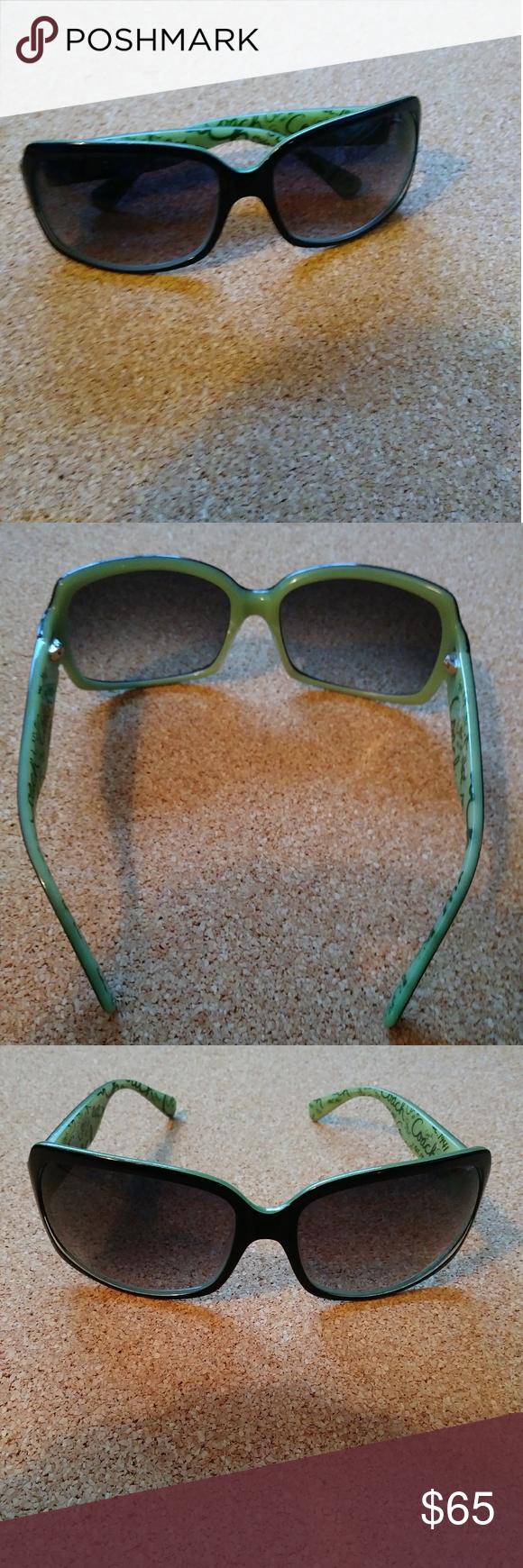 b38c06487cd51 Coach Sunglasses Coach sunglasses. Ginger. S496. Black with green trim.  Coach Accessories Sunglasses
