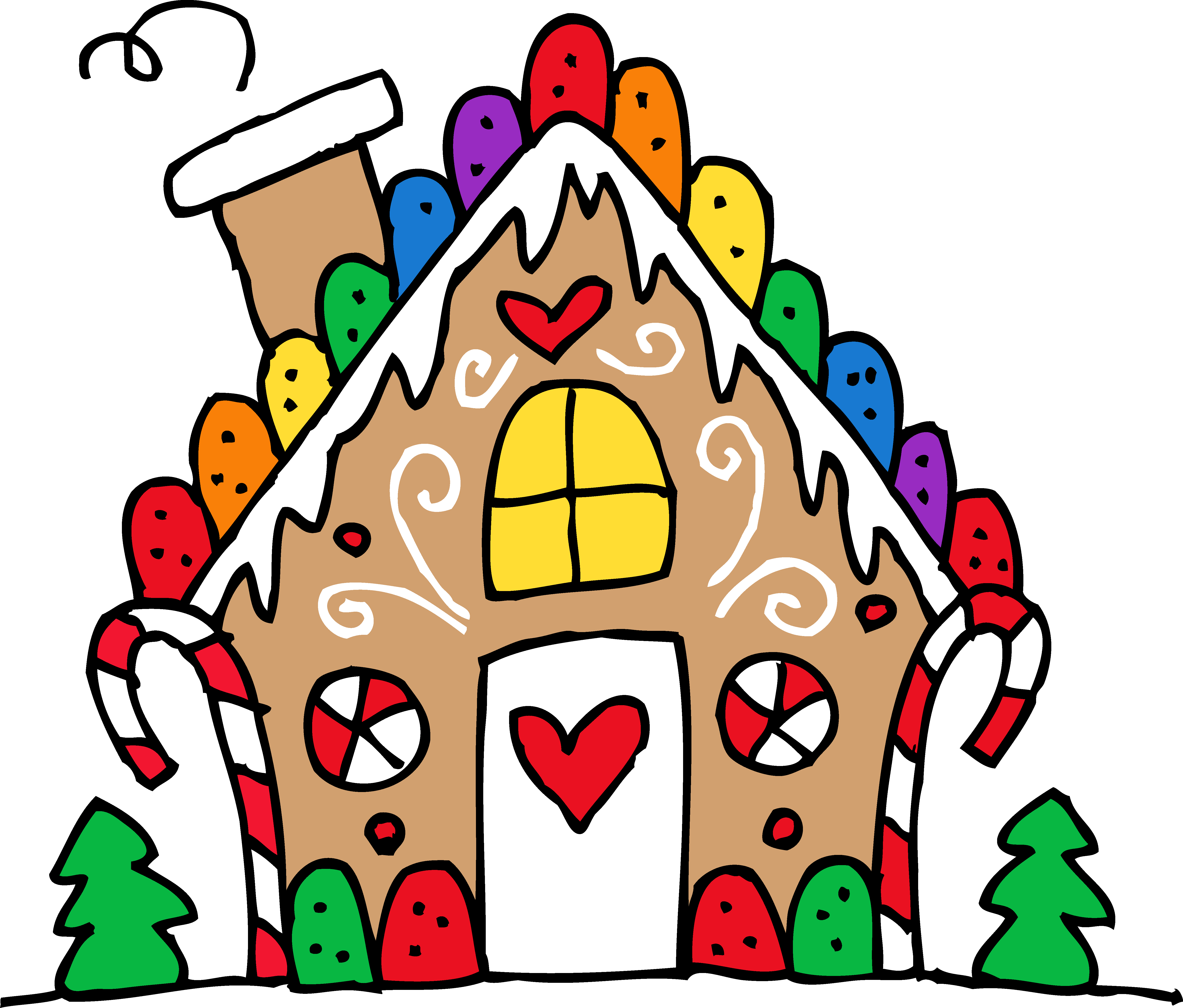 Gingerbread House Image Drawing Drawing Images Christmas Art House Clipart Free Clip Art
