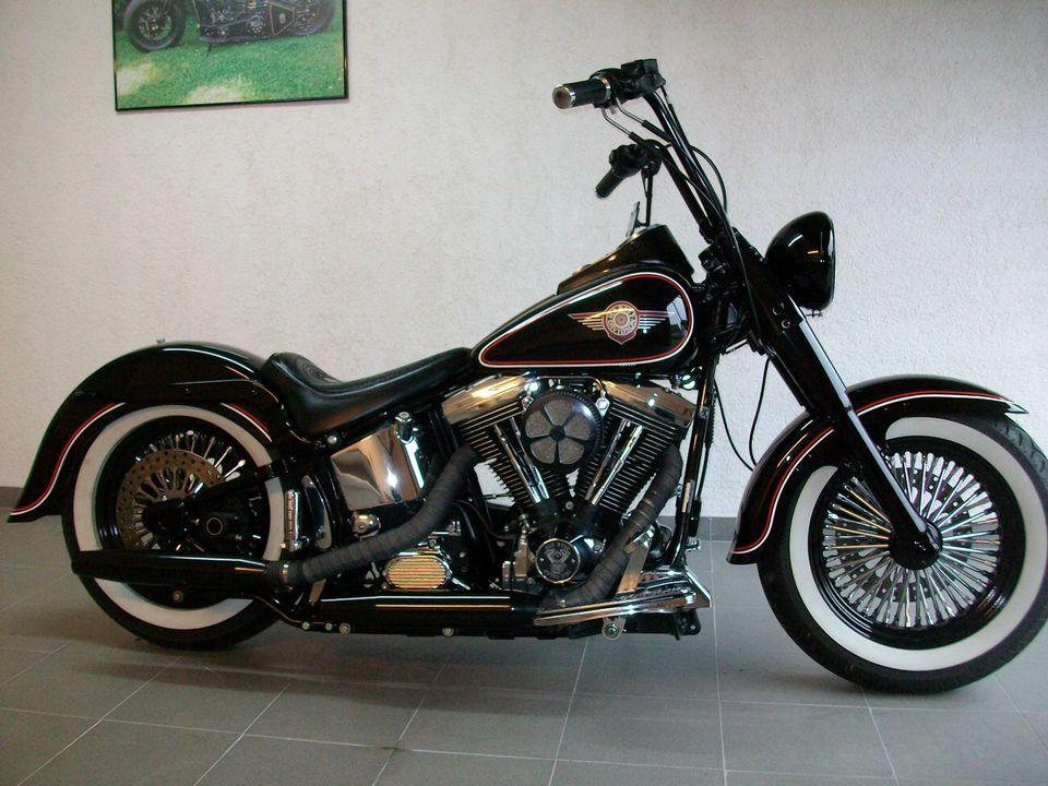 Harley Davidson Fat Boy Bobber FLSTF EVO Old School