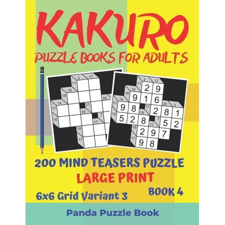 Large Print 6 x 6 Grid Kakuro Puzzle Books For Adults Kakuro puzzle is a logic puzzle and also a great brain game. If you play kakuro everyday, you'll soon begin to see improvements within your concentration and overall brain power. You could reduce your probabilities of Dementia or Alzheimer's simply by solving logic puzzles. If you like Sudoku and other logic puzzles, you will love Kakuro Puzzle as well!A KAKURO puzzle is constructed on a crossword grid just like a standard crossword, but the