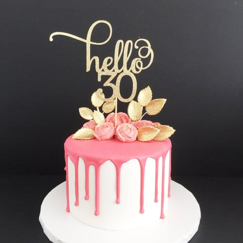 Enjoyable 27 Beautiful Photo Of 30Th Birthday Cakes With Images 30Th Funny Birthday Cards Online Drosicarndamsfinfo