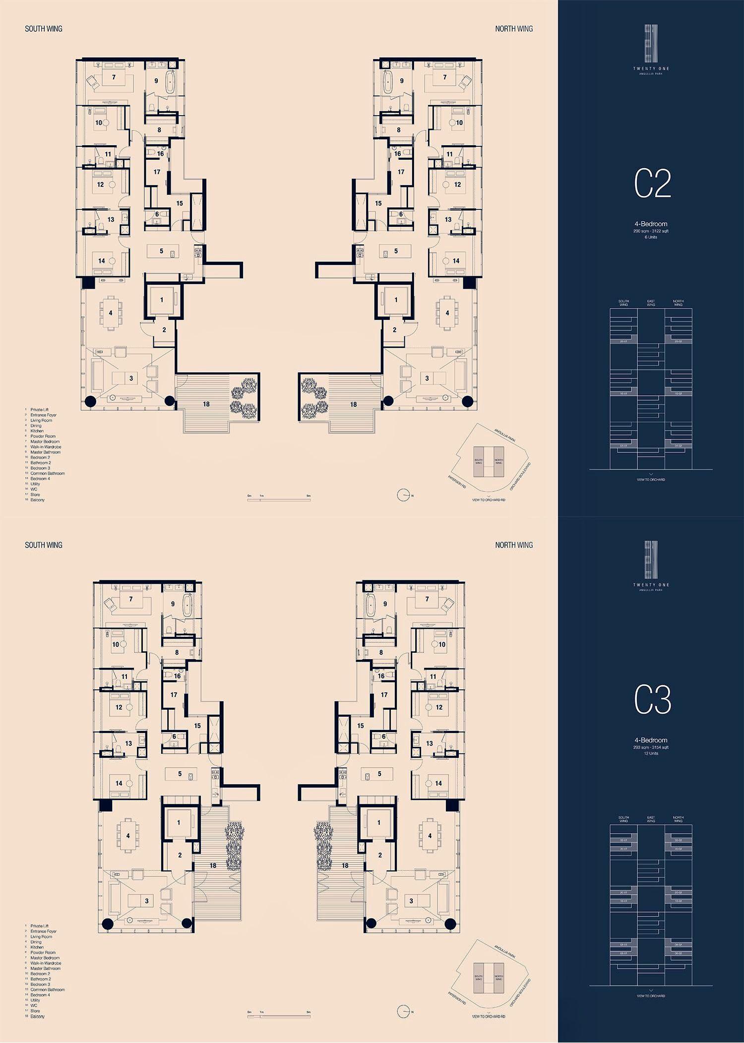 Twentyone Anguilla Park Singapore Floor Plans Condo Floor Plans Scda Architects