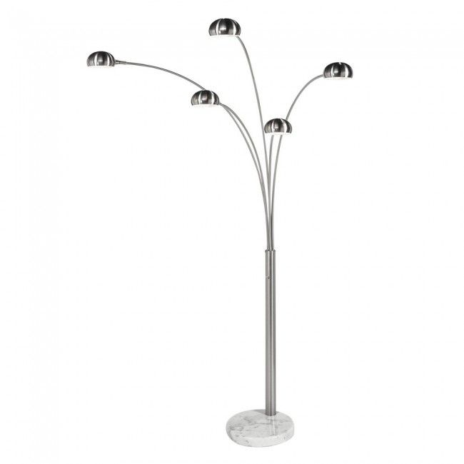 Large 5 arm arco floor lamp with chrome shades lampshadeslights find it at the foundary mushroom spider arm 5 light arc floor lamp mozeypictures Image collections