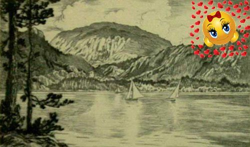 Byxbe,Lyman. #GRAND #LAKE. Etching. 2 15/16 x 4 5/8 inches,77 x 118 mm. Titled and signed in pencil. In excellent condition.