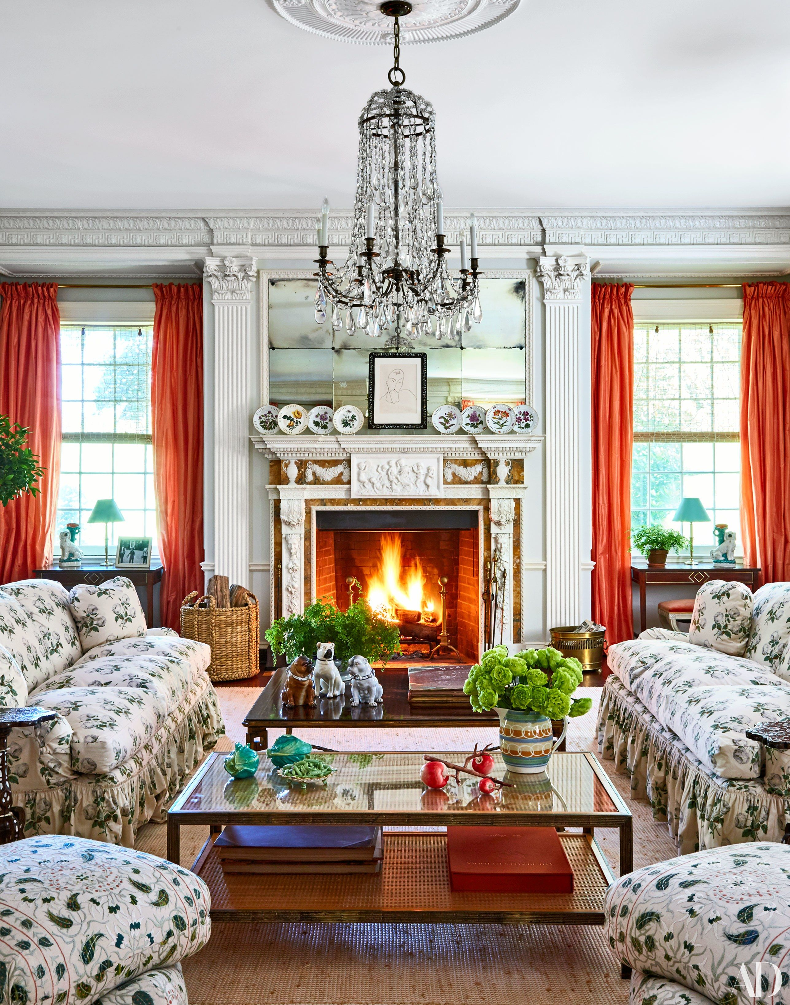 Home interior icon step inside fashion icon tory burchus home  architectural digest