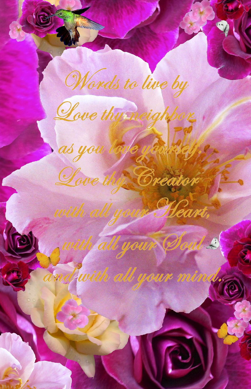 Words to live by love your neighbor on beautiful flowers free words to live by love your neighbor on beautiful flowers izmirmasajfo