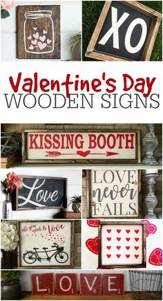 Looking for some Valentine's Day decor to decorate this year? These super cute Valentines wooden signs are perfect for that. Especially if you love the farmhouse rustic style.  if any one knows this site please let me know