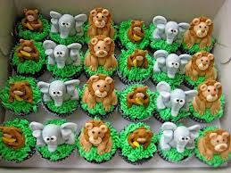 Jungle Safari Baby Shower Cupcakes Google Search With Images