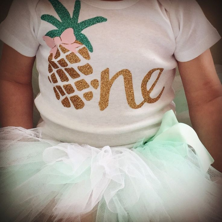 Summer First Birthday Outfit Pineapple 1st Birthday Outfit for