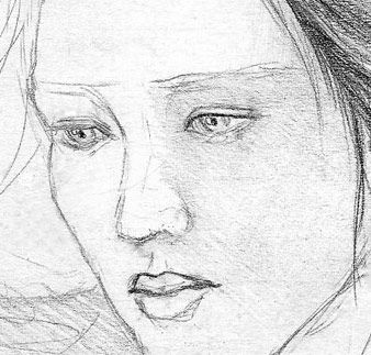 T нарисовать красиво девушку карандашом